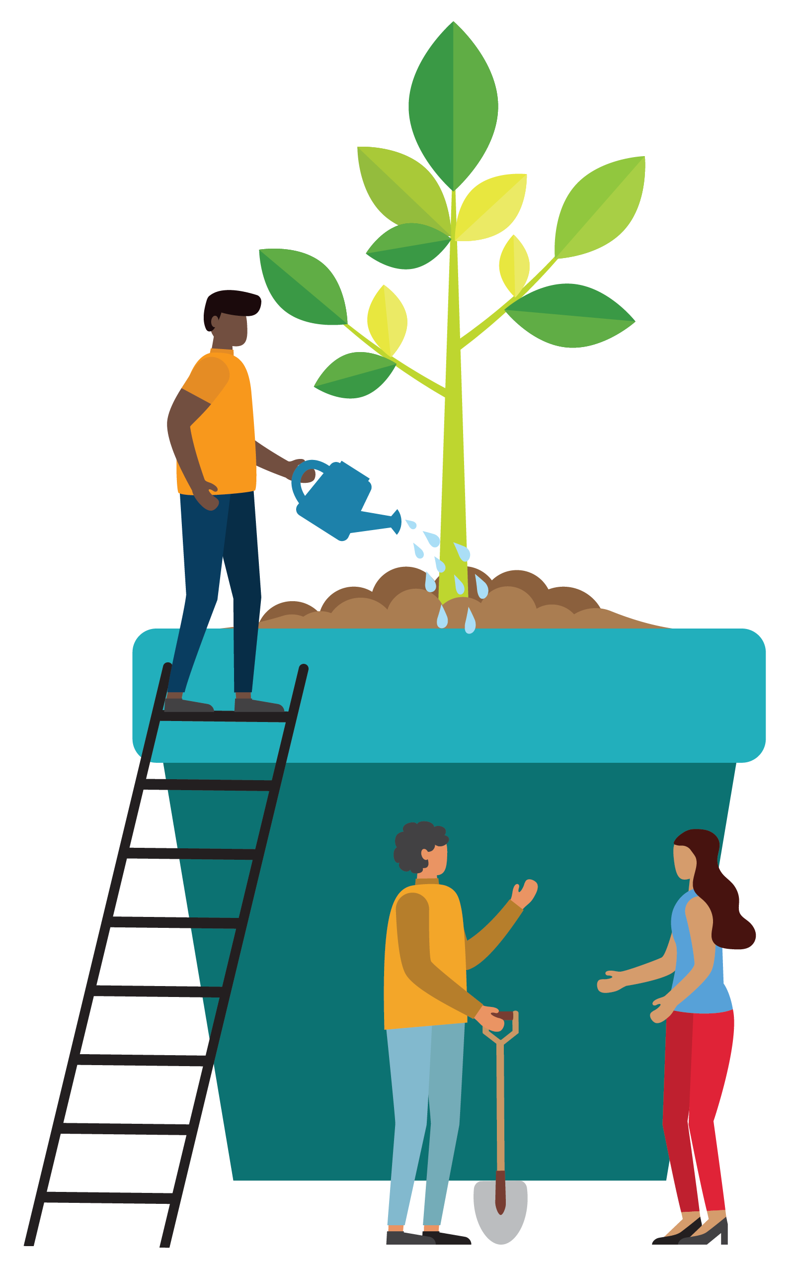 Virginia SBDC Capital Region | Community watering plant to promote growth